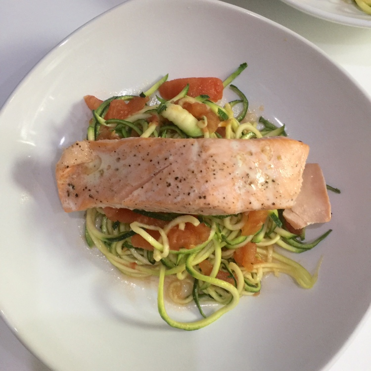 Zoodles salmon